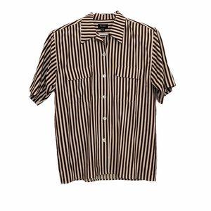 bouse B/_053 Vintage 80/'s 100/% Silk striped printed